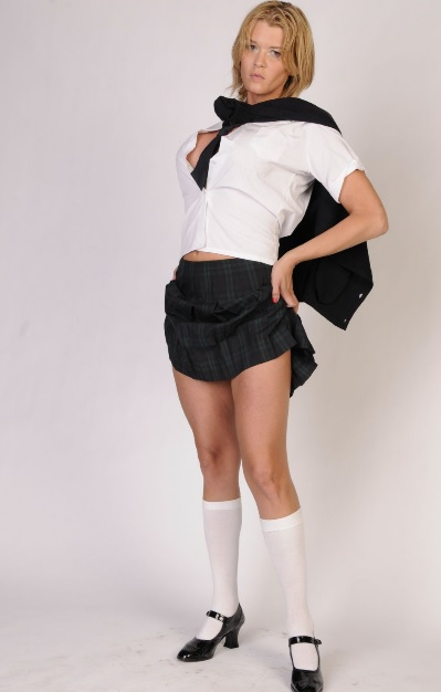 Astrid Shay is a Busty Schoolgirl
