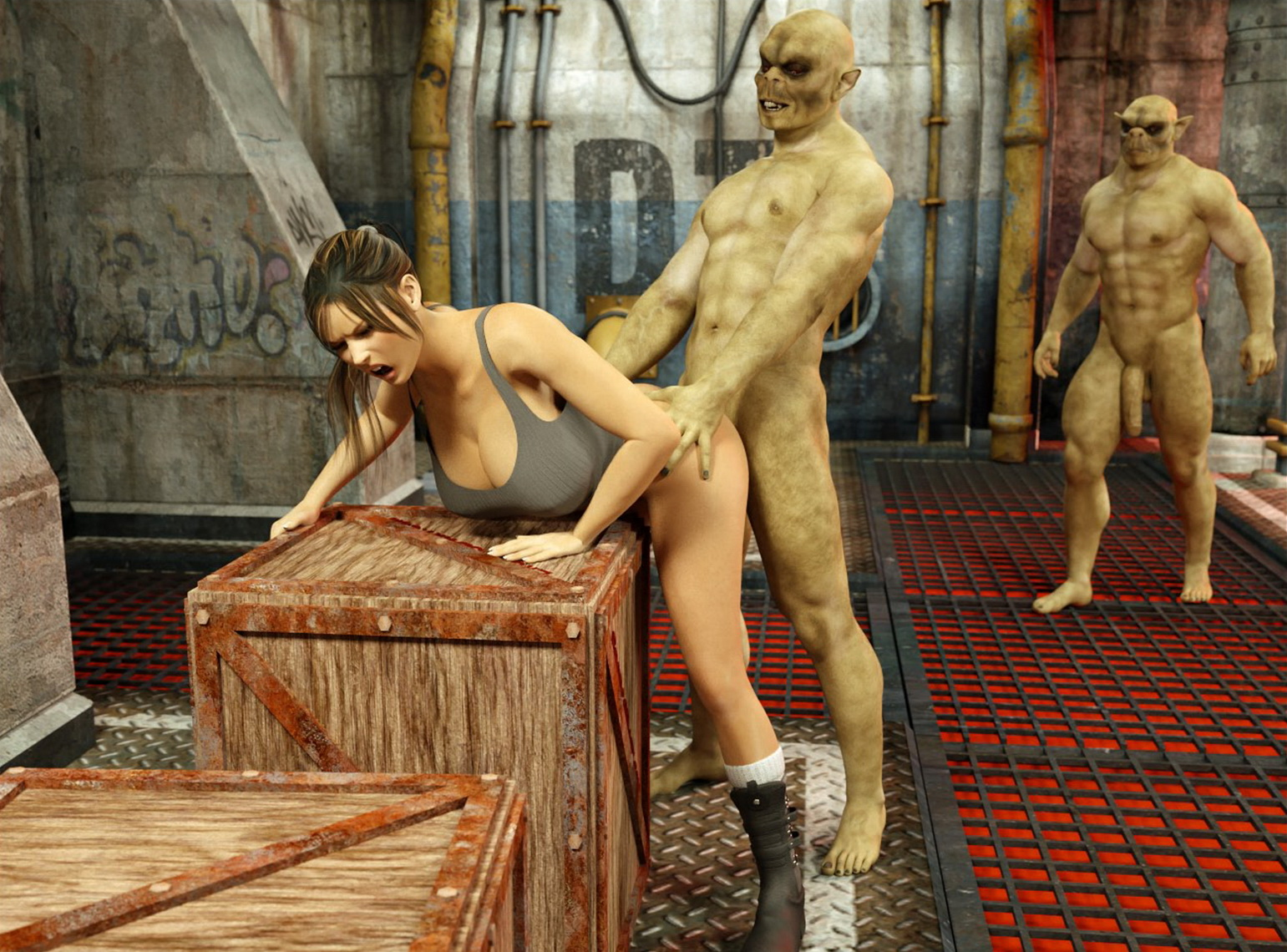 3d monster xxx lara croft fucked clips