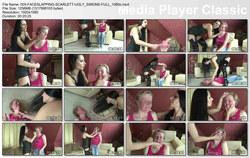 Hunt Erotic: Faceslapping dark slapps - Scarlett and Slave Ugly Simone