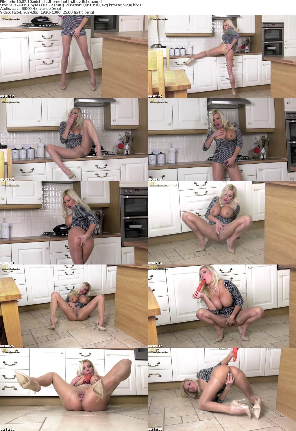 Pantyhosed4U 16 02 10 Michelle Thorne Hot In The Kitchen XXX 1080p MP4-KTR