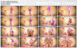 Humiliation POV Goddess Isabel: Pink Shiny Dress Pantyhose Puppet