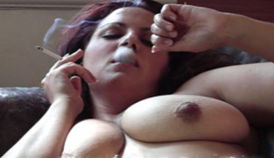 Mellie D smoking masturbation 2