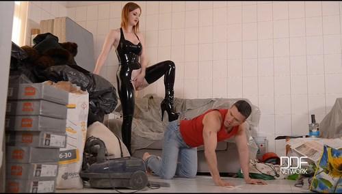11 June, 2016 - Zara DuRose - Lazy Craftsman - Red - Haired Dominatrix Humiliates Tiler [2016, Big tits, Bondage, Fetish, High Heels, Pussy fucking, Latex, Face sitting, Submissive, Dominatrix, Gothic, SiteRip]