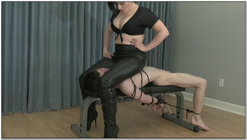 Meana Face Sits Helpless Little Man Female Domination