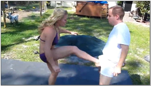 Poolboy Ballbusting Female Domination