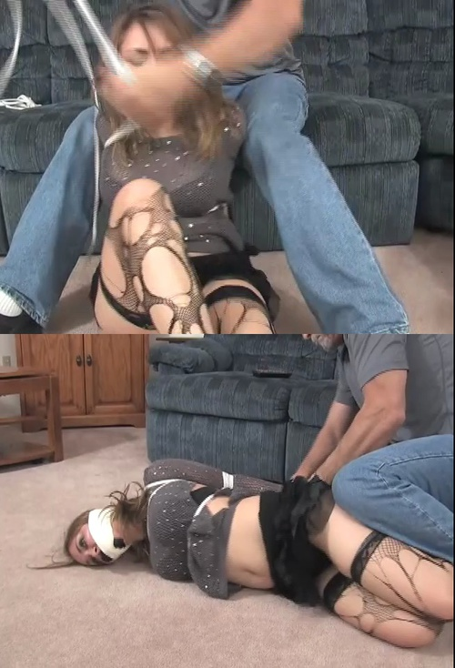 Open mouth gagged sub getting spanked