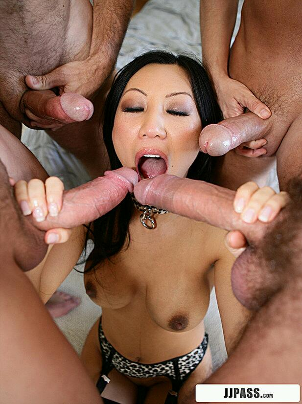 Will Surrounded by black cocks amusing