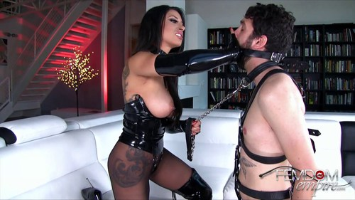 Mistress tangent fills his hungry holes with femdom torment 1