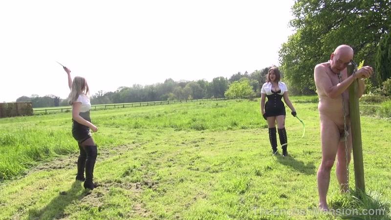 7 mistresses take turns otk spanking a sub 6