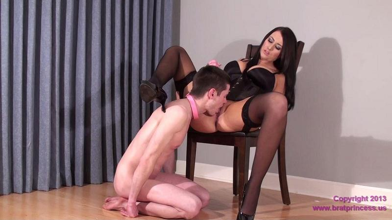 [BratPrincess ] Alexis (Alexis Grace) - Virgin Slave Danni Eats His First Pussy [Femdom, Cunnilingus, Pussy Worship And Lick, Stockings, 720p, HDRip