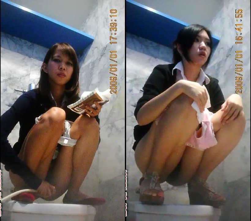 Toilet spy hidden camera girl thailand