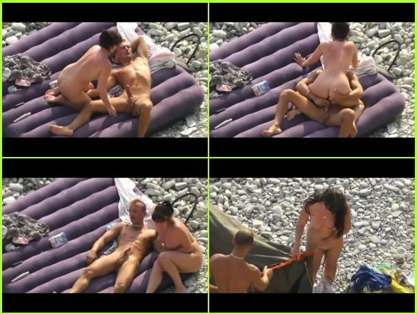 Voyeur 4099-Casual fuck on the nudist beach