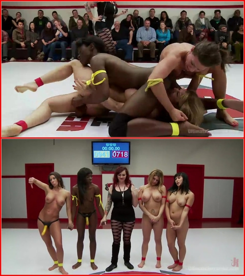 Ariel X, Alexa Aimes , Ana Foxxx , Mia Li and Carissa Montgomery (Ultimate Surprise. Rookies get Bullied by Ariel X Feb) Femdom, StrapOn, Girls Fight
