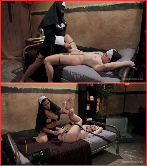 Mia Li and Sophia Locke (Naughty Nuns: Bad Habits Die Hard!) BDSM, Bondage, Electric, Lesbians