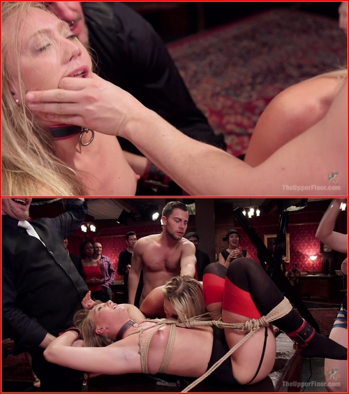 Aiden Starr, AJ Applegate and Cali Carter (Squirting Anal Slave AJ Applegate Tied Tight & Fucked) BDSM, All Sex, Squirt