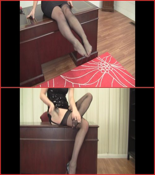Secretary Stocking Tease Trilogy