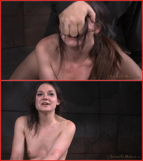 Fresh faced cutie Amy Faye bound down and roughly fucked with punishing drooling deepthroat! – 2015 BDSM, Bondage, Domination, All sex