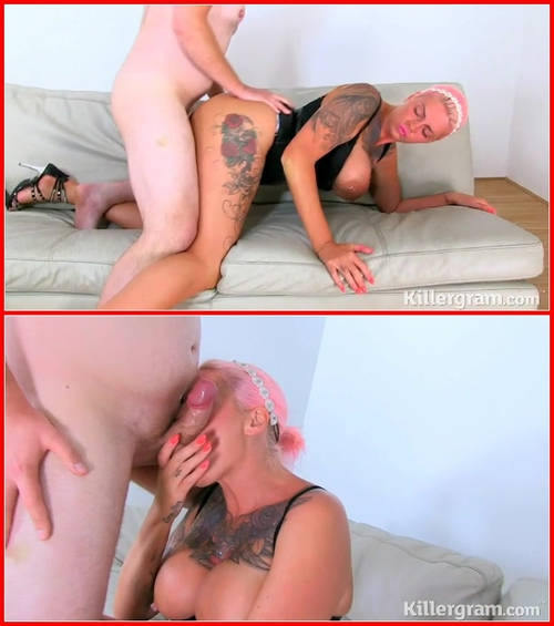 Sylvia Bond – Busty Fuckfest 17.08.2015 MILF, Big Tits, Shaved Pussy, Piercing, Tattoo, High Heels, Threesome, Titty Fuck, Oral, Deep Throat, Ball Licking, Hardcore, Cum In Mouth, Facial
