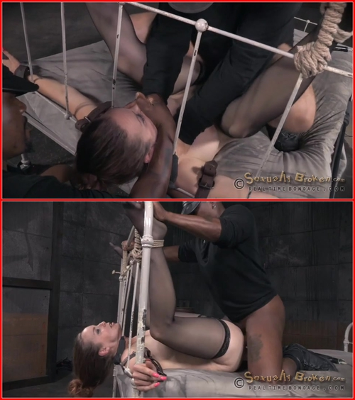 Grand finale of Bella Rossi's BaRS show with brutal bed bondage, epic deepthroat and rough fucking! – August 17, 2015 BDSM, Bondage, Domination, All sex
