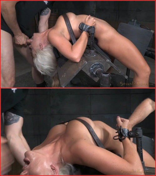 Big breasted sybian slut Holly Heart bent over backwards with brutal drooling deepthroat! 2015 BDSM, Bondage, Domination, Blowjob