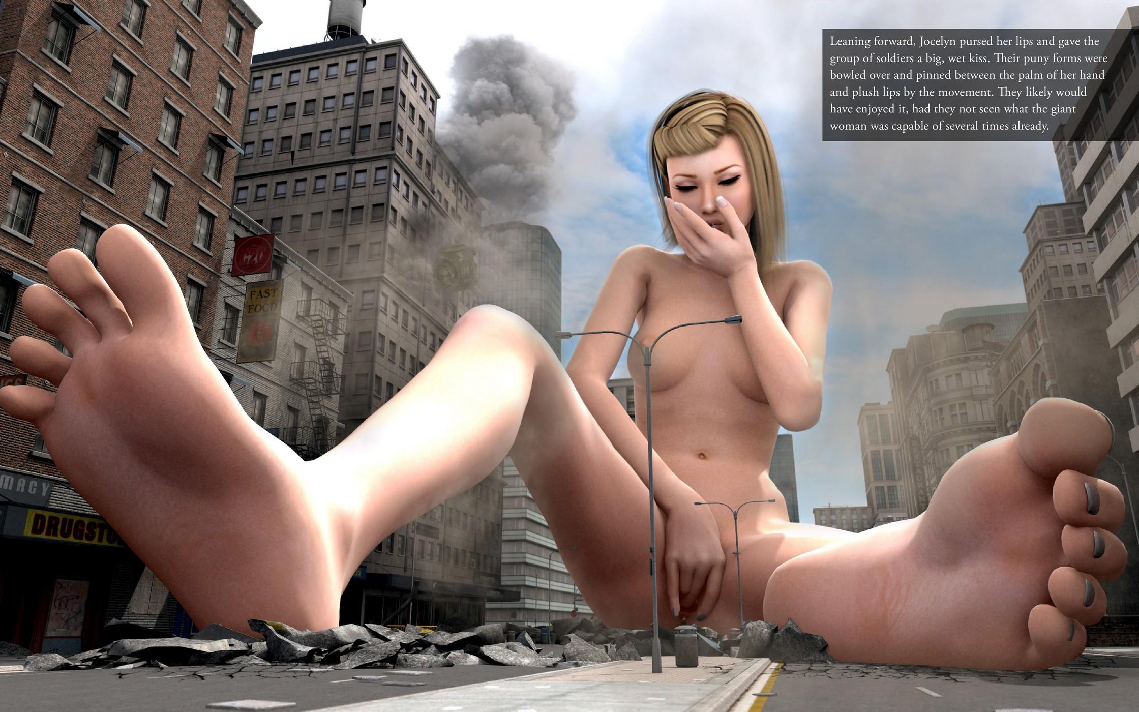 Giantess Tortures Tiny Man