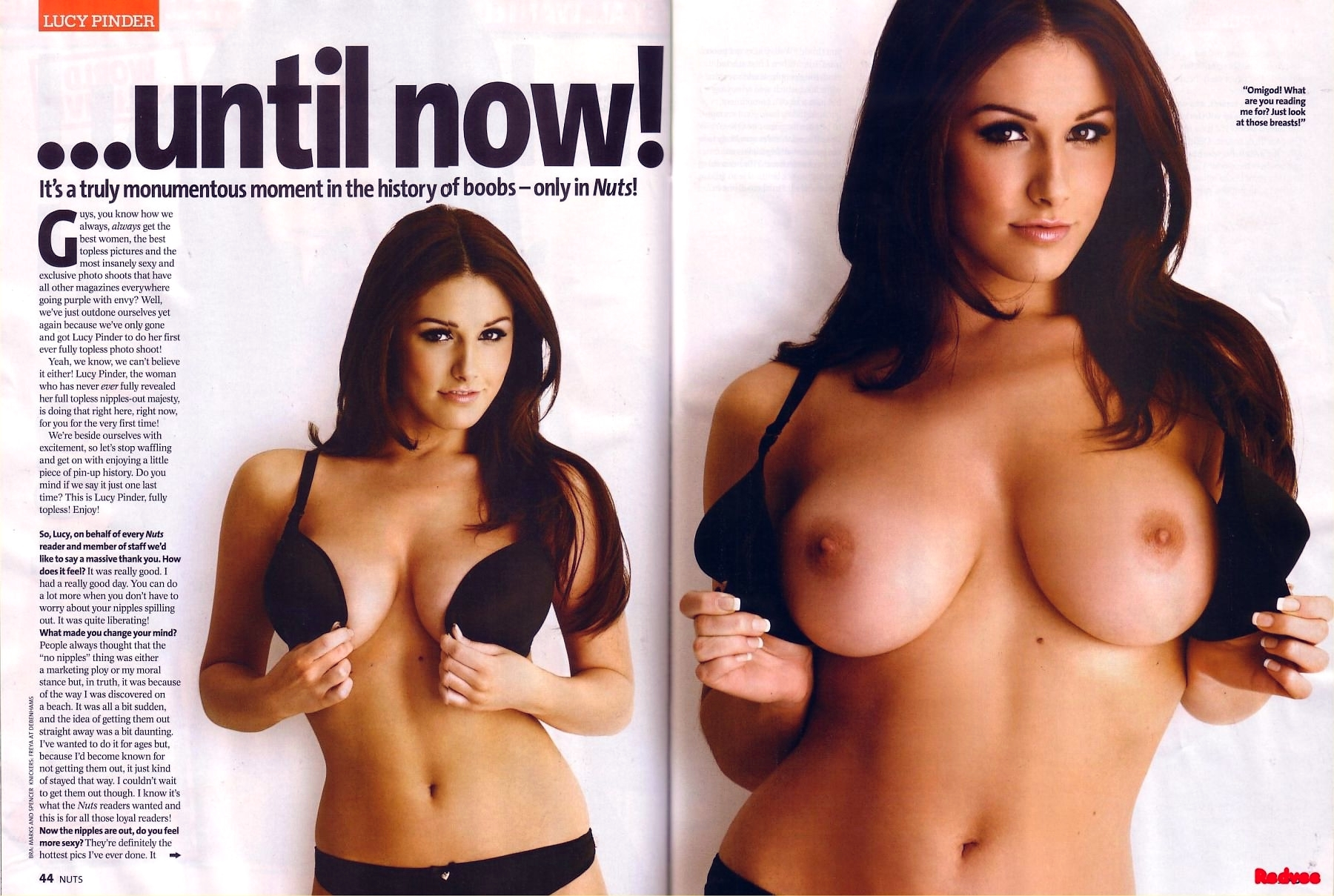 Lucy Pinder Nude Huge Breasts And Firm Nipples